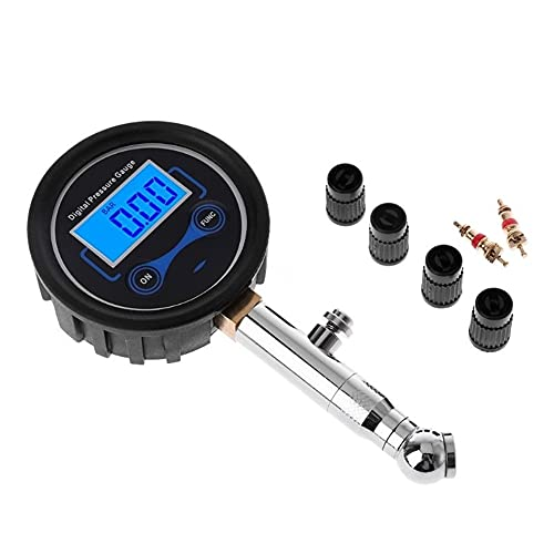 MCYAW 0-200PSI LCD Digital Neumático Medidor de presión Presión de Aire de neumáticos para automóviles para Motocicletas Camión Bicicleta Motorbike Tester de vehículos (Color : Black)