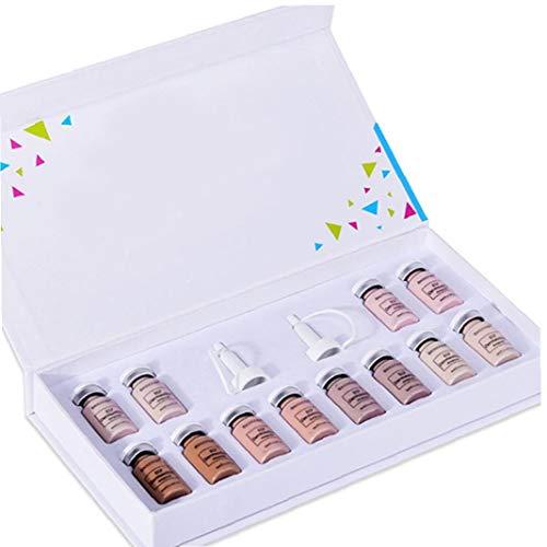 lujiaoshout Fundación de Lucha contra el acné Base líquida Crema BB Glow Starter Kit behandling blanquear Anti Arrugas con Esencia de Cabeza para la Piel Style2 Productos Cosméticos
