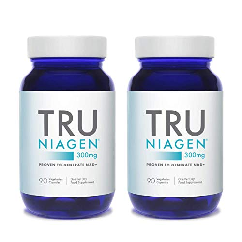 TRU NIAGEN Nicotinamide Riboside NAD+Supplementfor Reduction of Tiredness & Fatigue,Patented FormulaNR is More EfficientThan NMN - 90 Count - 300mg Per Serving (6 Months /2 Bottles)
