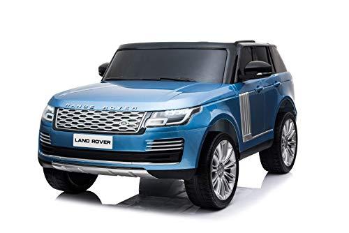 RIRICAR Elektrisches Auto für Kinder, Range Rover, Blau lackiert, mit 2,4-GHz Fernbedienung, 2 Sitzer, 3 bis 8 Jahre, 2X 12V7Ah-Batterie