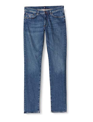GANT Herren Slim Jeans, Blau (Mid Blue Worn In 971), W35/L32 (Herstellergröße: 35/32)
