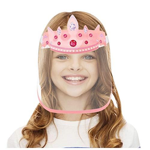 CHshe Kinder Visier Gesichtsschutz Mundschutz Transparent Full Face Visier Kunststoff Klarer Plastik Protectionkomfortabel Schutzvisier Für Schule Restaurant Outdoor Reise(C)