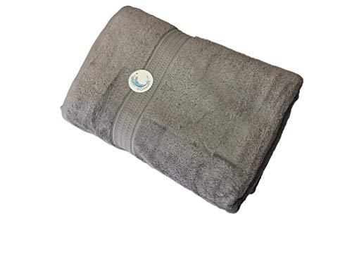 Cazsplash 650 g/m² Ensemble de toilette, coton bio, gris, Bath Sheet 90 x 170cm