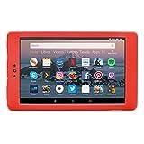 NuPro Funda resistente a los golpes para el tablet Fire HD 8, color rojo