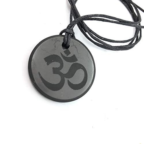Shungite Colgante Infinity Collar, piedra auténtica de Rusia, Shungite Jewelry, protección EMF