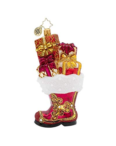 Christopher Radko Hand-Crafted European Glass Christmas Decorative Figural Ornament, All A-Boot it!