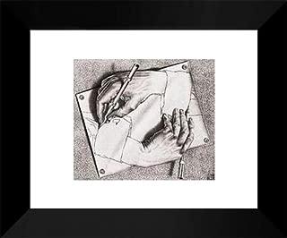 Drawing Hands 15x18 Framed Art Print by M.C. Escher