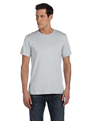 Bella 3001U Unisex Made In The USA Jersey Short Sleeve Tee - Silver44;...