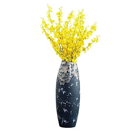 SYHPDT keramische vazen, met de hand gedecoreerd vloer vaas Home TV kast ingang creatieve keramische vaas geïnterpoleerde hoge vaas ornamenten plant