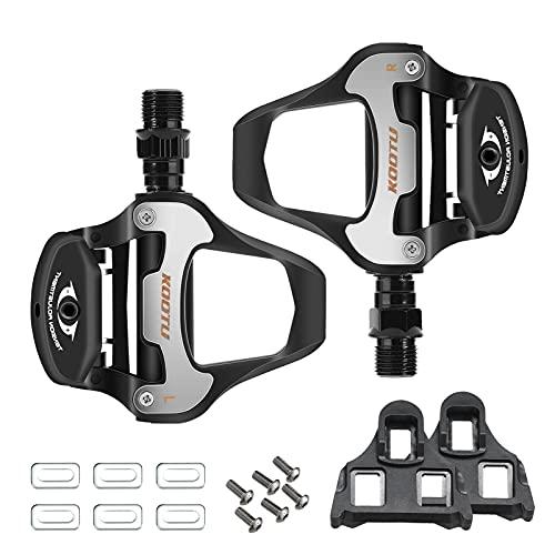 KOOTU Klickpedale 9/16 Universal Klickpedal Pedale Verriegelungspedale Sets für Rennrad Mountainbike Radfahren