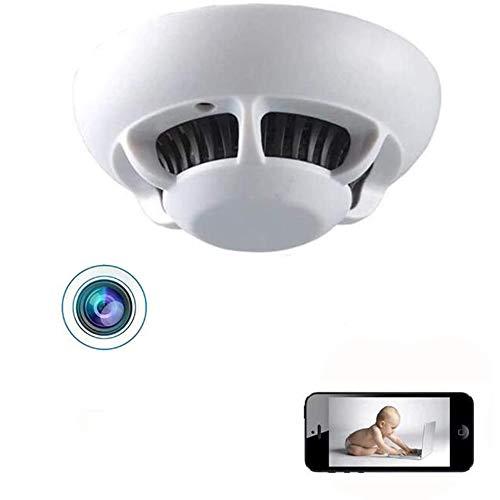 GEQWE Detector De Humo Cámara Espía, Cámara WiFi Vigilancia De Seguridad para El Hogar Cámara Espía Oculta Inalámbrica IP Estenopeica 1080P Cámara Detectora De Humo Inalámbrica