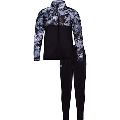 Under Armour Boys' Little Zip Jacket and Pant Set, Black F191, 6