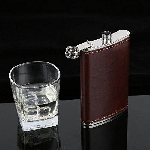 Piner 5-10oz draagbare roestvrijstalen heupfles flagon whisky wijnpot lederen hoes fles trechter Travel Tour drinkware wijnbeker, 9oz