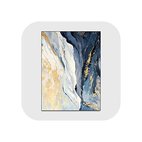 Fiery Tulip Map Rugs Nursery |Abstrakte Blaue goldene Marmor Teppiche Modernes Schlafzimmer Sofa Nachttisch Dekor rutschfeste Bodenmatte Wohnzimmer Arbeitszimmer -Carpet1-80x120cm