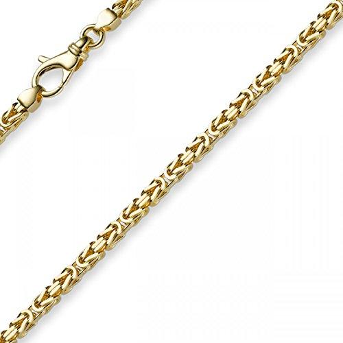3mm Armband Armkette Königskette aus 750 Gold Gelbgold 21cm Herren