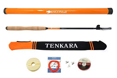 DRAGONtail MIZUCHI zx340 Zoom Small Stream 3 Length Tenkara Rod (with Furled Line Starter Kit)