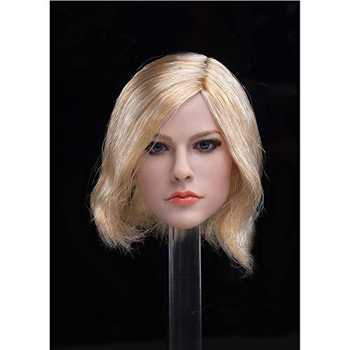 1//6 American Female Head Sculpt un cheveux bruns pour Phicen Hot Toys figure U.S.A.