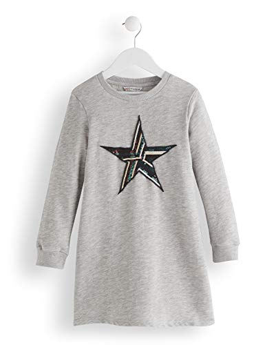 Amazon-Marke: RED WAGON Mädchen Kleid Star Sequin, Grau (Grey), 104, Label:4 Years