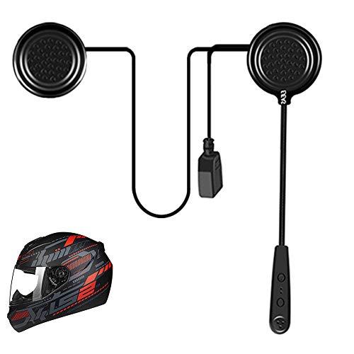 EJEAS Cuffia per Casco Moto Auricolari Cuffie Bluetooth Musica Stereo, E1 Bluetooth 4.1 Navigatore e MP3, Raggio di 10m, Interfono Cuffia e Microfono Sportivo Sci Bicicletta Arrampicata