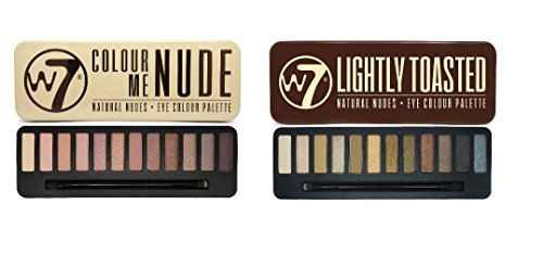 "W7 Lidschatten-Palette, Set ""In The Buff Lightly Toasted"" und ""In The Nude"""