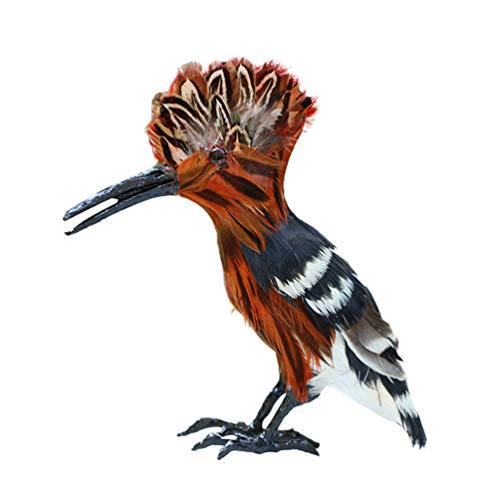 SUPVOX Figuras Decorativas de Aves Pájaros de Plumas Modelo Animal Juguetes para Decoración del Hogar Miniatura Decoración de Jardín de Hadas Ornamento (Pájaro)