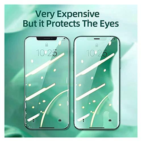 WWZZ Ojos De Protección Protectora para I-Phone 12 Pro MAX M-ini Class Pantalla De Cubierta Completa para I-Phone 7 8 Plus XR XS XS Vidrio Templado (Color : For IP 11 Pro, Size : 1pcs)