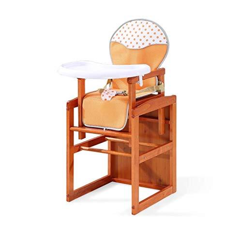 MUTANG Silla Alta para bebé, Mesa de Comedor y sillas, Silla de Escritorio Desmontable Multifuncional de Madera Maciz