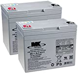 2 X MK Power AGM Mobility Scooter Batteries 12V 34Ah by MK Power