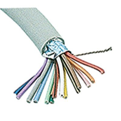 Jameco Valuepro SC15-100 Multi-Conductor Cable, Shielded, 15 Conductor, 24 AWG, Round, 100