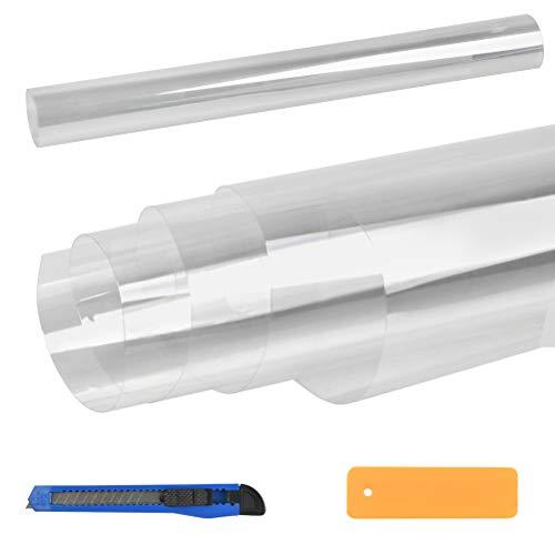 N\A Transparent Klebefolie Selbstklebende Möbelfolie Spritzschutz Schutzfolie Oberflächenschutz PVC Fliesenaufkleber für Badzimmer Küche Wasserdicht 40X300cm