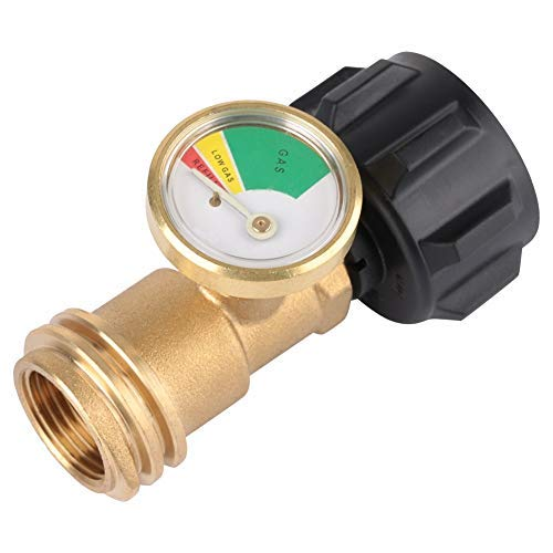 Messing Gasdruckmesser - 250 PSI Messingadapter BBQ Gasdruckmessgerät Universal für BBQ Gasgrill-Heizung und weitere Geräte