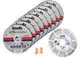 kwb 712031 Disco de corte de diamante fino para amoladora angular 115 mm disco flexible pa...