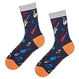 soxo Herren Bunte Muster Socken | Größe 40-45 | Motivsocken aus Baumwolle | Lustige Geschenk für Männer (Musikinstrumente)