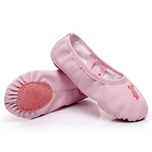 Deporte Ballet Mujer Chica Suela Suave Bowtie Zapatos de Baile Lona Algodón Yoga a12c Caliente-1_12,5