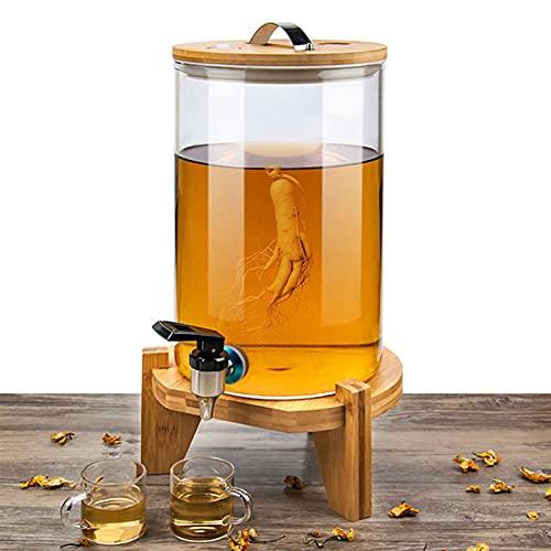 GLLX Almacenar Botellas de Vidrio, Botella de Almacenamiento de Vidrio, Hogar Partido Botes herméticos Botella de Vino, Usado para Vino Tinto/Vino Blanco/Bebida,7500ML