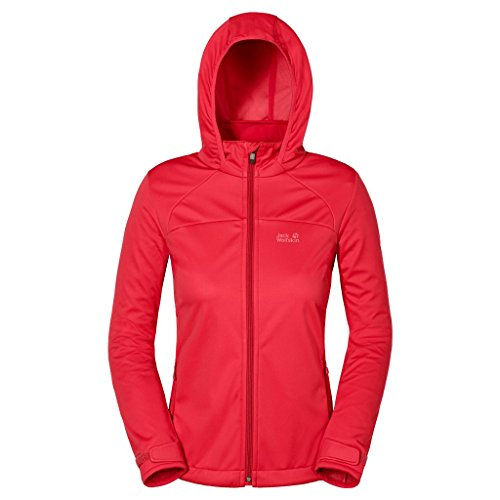 Jack Wolfskin Women's Sonic Vent Jacket, Hibiscus Red, Small