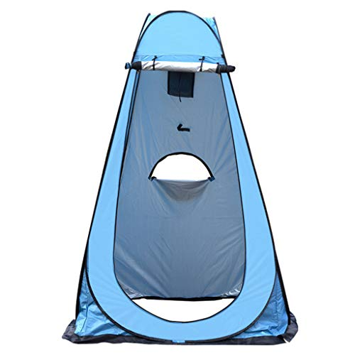 TTlove Camping Toilet Tent Pop Up Shower Privacy Tent for Outdoor Changing Dressing Fishing Bathing Storage Room Tents, Portable with Carrying Bag(A#Blue,120X120X190CM)