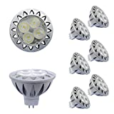 ALIDE MR16 GU5.3 Led Bulbs 5W 4000K Soft Natural White,20W-35W Halogen Equivalent,12V MR16 Low Voltage Bulb Spotlights for Outdoor Landscape Flood Ceil Track Lighting,Not Dimmable,450lm,38 Deg,6 Pack
