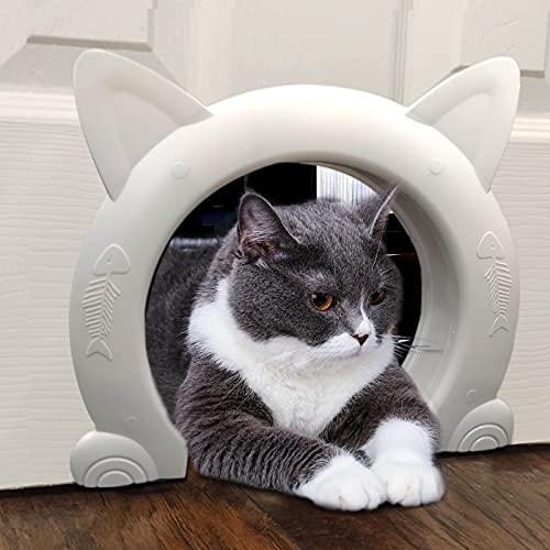 ikuso Indoor Cat Door, Cat Door for Interior Door, Pet Doors for Cat, Kitties and Kittens