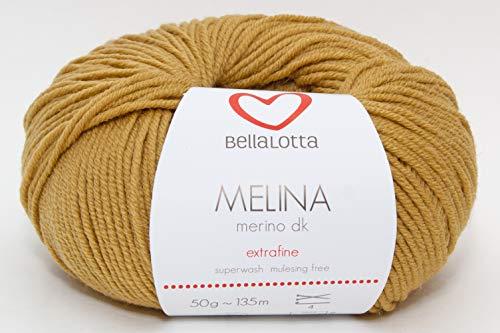 BellaLotta Strickset Merino - Babydecke Wunschkind in 40x50 oder 60x80 cm (40x50, Senf)