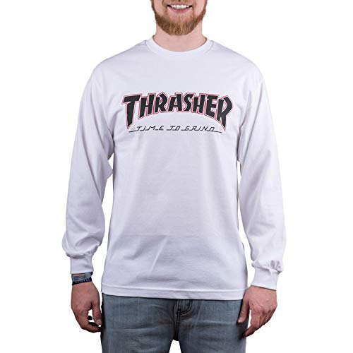 Independent X Thrasher Collab TTG Long Sleeve T-Shirt X Large White