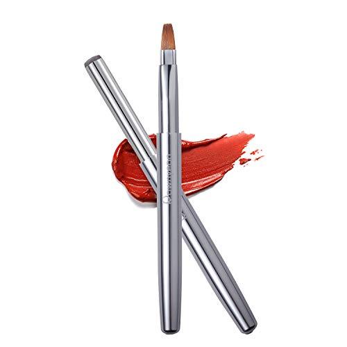 Lip Brush, Retractable Lip Brush with Cap Portable Applicators for Lipstick Lip Gloss Professional...
