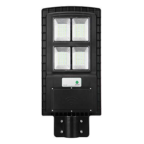 Wegverlichting verlichting verlichting buitenverlichting 60 W zwart LED zonnelicht lichtbesturing + Radar sensor wand-synchronisatie waterdicht 65 voor bar