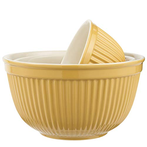 IB Laursen Schalensatz Mynte in Mustard 3er Set