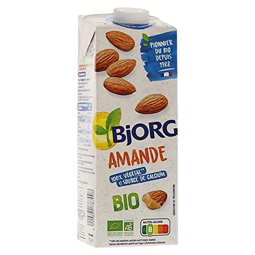 Bjorg Lait d'amande Calcium Bio – Boisson végétale bio – Pauvre en acides gras saturés – 1 L - Lot de 6