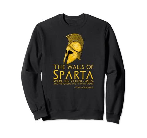 Rey Agesilaus II - Motivacional Espartano Antiguo Sudadera