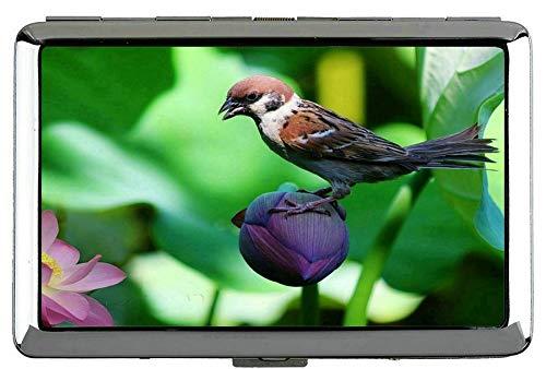 Yanteng Nature Purple Flowers Cigarette Box-Sparrow Hard Box y Soporte (King Size)
