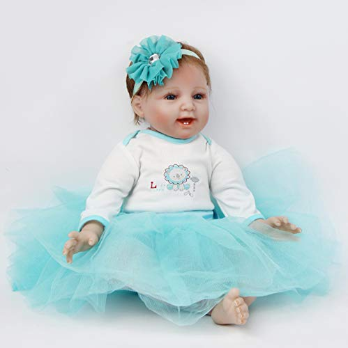 ZIYIUI 55 cm 22 Pollici Bambola Reborn Realistico Bambola Reborn Femmina Vinile Silicone Morbido Bambole Bambina Simulazione Toddler Babies Sveglia della Regalo