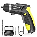4.8V High Screwdriver 1/4' Multi-Functional Electric Screwdriver and Screw Bits Set Lithium Electric Dril Cordless Hand Drill Charging Screwdriver Screw Power Gun and a Built-In LED Light for Home DIY