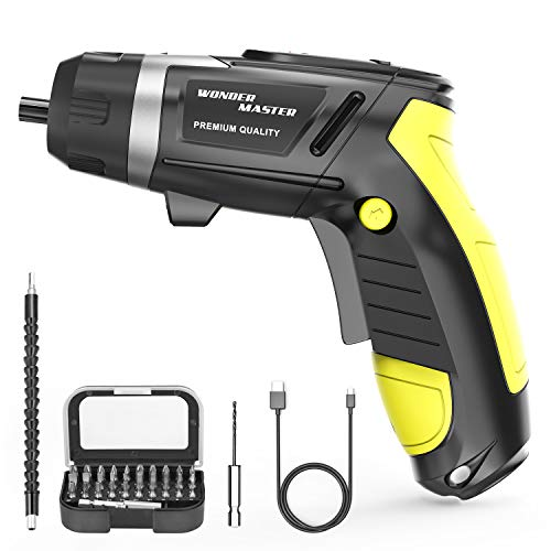 3.6V High Screwdriver 1/4' Multi-Functional Electric Screwdriver and Screw Bits Set Lithium Electric Dril Cordless Hand Drill Charging Screwdriver Screw Power Gun and a Built-In LED Light for Home DIY